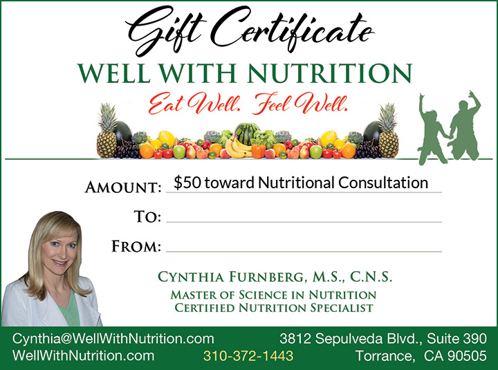 Well With Nutrition $50 Gift Certificate